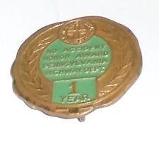 Vintage Miniature badge PENNSYLVANIA HIGHWAY Honor Award Mini pin pinback
