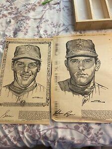 New York Daily News 1969 Mets Bruce Stark Drawings Seaver Ryan
