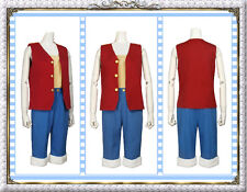 Clearance-One Piece Monkey D. Luffy Cosplay Costume (Male; Ht:5'10'';Wt:142 lbs)