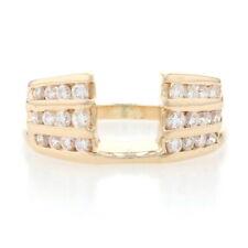 Yellow Gold Diamond Enhancer Wedding Band -14k Round Brilliant .60ctw Guard Ring