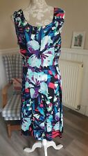 M&Co Floral Thick Cotton Dress Size 18-20