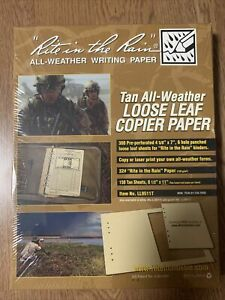 LL9511T Rite in the Rain All-Weather Copier Paper - 200 Sheet - Loose Leaf - Tan