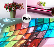 Pink Decoration Window Tint Vinyl Home Party Mall Window Glass Sticker Film 60in