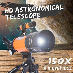 HD Astronomische Teleskop Weltraum Refraktor Einstellbar Stativ Objektiv Bezüge