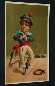 CHROMO 1890-1895 AU BON MARCHE BOUCICAUT PARIS DANSE GIGUE MARIN TESTU & MASSIN