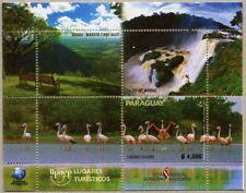 Paraguay 2017 UPAEP Tourismus Flamingos Vögel Wasserfall Block Postfrisch MNH