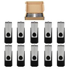 10 Pack 128MB Flash Drive USB 2.0 Swivel Memory Stick Pen Thumb Non-slip U Disk