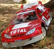 1/8 Peugeot 206 Rally RC Car body clear 1.5mm GT Serpent Traxxas Slash 0101/1.5
