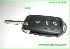 3 Tasten VW Seat Klappschlüssel Gehäuse ab ca.BJ >09 1tlg. Schlüssel Golf 6 key