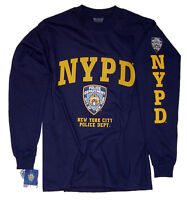 NYPD Shirt Long Sleeve T-Shirt Officially Licensed By The New York City Police