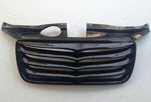 Front Hood Grille CARBON Eagles 1p for 2007 2010 Hyundai Santa Fe