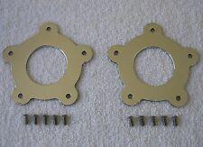 Torq Thrust Flat Center Caps, Polished Aluminum, 2-1/8, American Racing, US Made