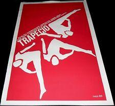 1956 Trapeze ORIGINAL CUBAN POSTER Carol Reed Burt Lancaster Gina Lollobrigida