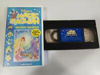 World Magic English Discover English With WALT DISNEY VHS Tape