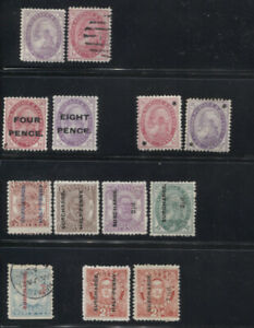 TONGA 1886-1962 COLLECTION ON BLACK PAGES MINT USED better includes nos. 2a*,6-7