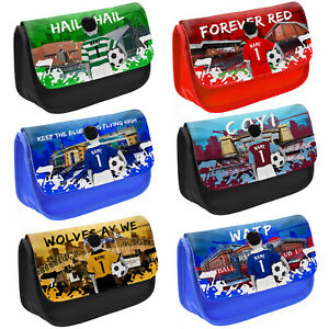 Football Pencil Case Boys School Childrens Kids Game Bag Personalised ALL TEAM