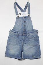 Salopette H&M (Cod. S18) Tg.S jeans usato Short vintage Streetwear salopet