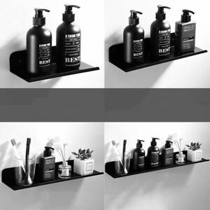 Bathroom Shelf Qrganizer Black Square Aluminum Corner Shelf Shower Storage Rack