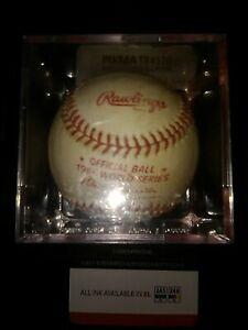 """Howard """"Hojo"""" Johnson Signed Auto Baseball 1986 World Series Ball"""