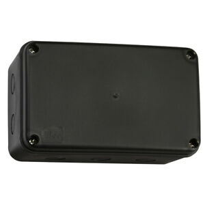 Weatherproof IP66 Junction Box Enclosure Large Black Electrical Outdoor External