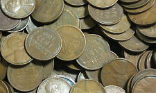 1955 D Lincoln Wheat Cent Roll - 50 Coins - Circulated Collector Lot Low Price