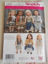 "Simplicity 18"" Doll Steampunk Clothes Sewing Pattern 1392"