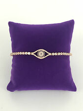 STERLINA MI MILANO ROSE GOLD CRYSTAL EVIL EYE TENNIS BRACELET BANGLE BRIDAL GIFT
