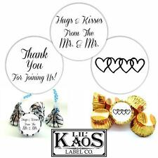 108 Hugs Kisses Mr. Thank You Gay Wedding Stickers Label Kiss Candy Mints Favors