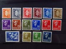 stamps  Norway Norge ** King Haakon VII Lion birds swan goose Løve