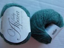 King Cole Baby Alpaca 100% Alpaca DK yarn, Meadow, lot of 2, Peru (110 yds ea)