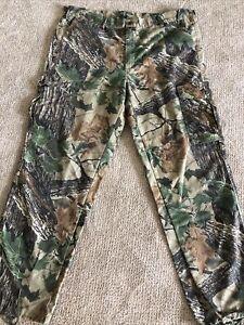 Ranger Real Tree Hunting Camo Cargo Pants Drawstring Legs Size XL. 44/32 USA