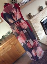 Size 12 Maxi Dress  By Dorothy Perkins Showcase   Floral Full Length -LDB