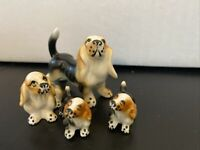 Beagle Dog Figurine Japan Bone China Vintage Puppies Antique Collectible Rare