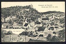 RARE Carte Postale Ancienne SOUVENIR de FERRETTE Gruss aus PFIRT Hôtel NEW YORK