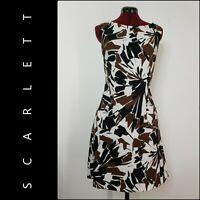 Scarlett Woman Career Formal Sleeveless Cocktail Shift Dress Size 10