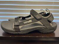 EUC Teva Tanza Black Sport Hiking Sandals Mens Size 13
