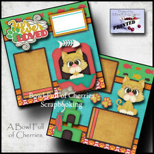 FUR EVER LOVED CAT 2 premade scrapbook pages KITTY paper piecing printed Cherry