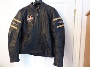 RK Sports Roadmasters Ladies Heavyweight Leather Motorcycle Jacket  MINT Size 14