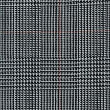 Grey Prince of Wales Check Super 120's Wool/Cashmere Suiting Fabric - 3.50 Mtrs