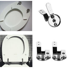 Luxury Square Toilet Seat Heavy Duty White Quick Release Hinges