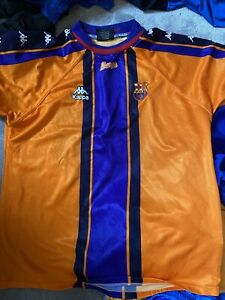 1997/98 Barcelona Away Shirt Kappa XL PLAYER ISSUE