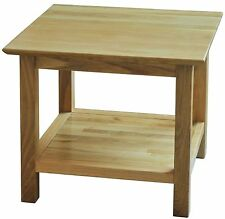 Bryson solid oak furniture small coffee table with magazine shelf