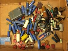 Big Lot of vintage Capacitors - Molded Film Mica Aerovox Paper Ceramic Disk etc