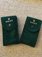 Authentic Rolex Green Velvet Storage  Pouches 2 Pieces