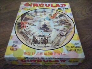 FAMOUS LONDON SCENES CIRCULAR JIGSAW PUZZLE 500 PIECES JOHN WADDINGTON NO 547