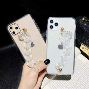 Luxury Chain Clear Acrylic Case For iPhone 7 8 11 12 13 Pro Max XR X Phone Cover