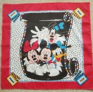 Vintage Mickey Minnie Mouse Donald Duck Goofy Disney Bandana J.A Woronowicz