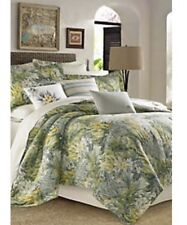 Tommy Bahama Queen 4 Piece Queen Comforter Set Cuba Cabana Tropical Print $335