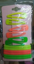 Neon Green Yellow Orange Hair Clips Hair Ties *US SELLER* FREE SHIPPING