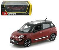 Fiat 500L 1:24 scale model diecast toy car miniature 500 L red